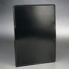 新喜皮革社製オイルコードバンのブラック色の名刺入れ-1-6