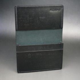新喜皮革社製オイルコードバンのブラック色の名刺入れ-1-7