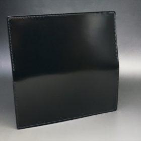 新喜皮革社製オイル仕上げコードバンのブラック色の長財布(小銭入れなしタイプ)-1-6