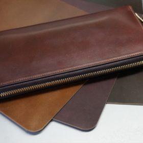 ホーウィン社製シェルコードバンの#4色とブラウン系のカラー比較画像