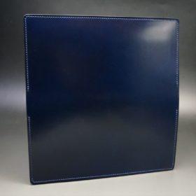 レーデルオガワ社製染料仕上げコードバンのネイビー色の長財布(シルバー色)-1-6