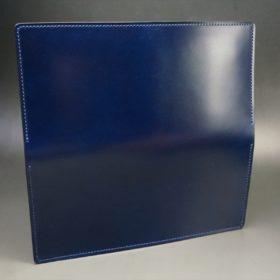 レーデルオガワ社製染料仕上げコードバンのネイビー色の長財布(小銭入れなしタイプ)-1-6
