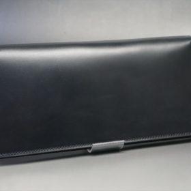 レーデルオガワ社製オイル仕上げコードバンのブラック色の長財布(シルバー色)-1-2