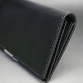 レーデルオガワ社製オイル仕上げコードバンのブラック色の長財布(シルバー色)-1-3