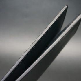 レーデルオガワ社製オイル仕上げコードバンのブラック色の長財布(シルバー色)-1-4