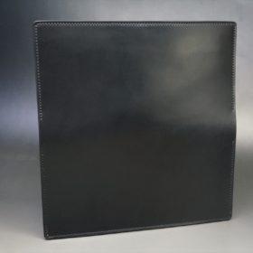 レーデルオガワ社製オイル仕上げコードバンのブラック色の長財布(シルバー色)-1-5
