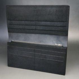 レーデルオガワ社製オイル仕上げコードバンのブラック色の長財布(シルバー色)-1-6