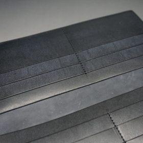 レーデルオガワ社製オイル仕上げコードバンのブラック色の長財布(小銭入れなしタイプ)-1-8