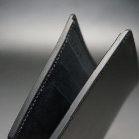 レーデルオガワ社製オイル仕上げコードバンのブラック色の二つ折り財布(小銭入れなし)-1-5