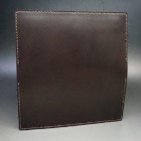 レーデルオガワ社製オイル仕上げコードバンのバーガンディ色の長財布(シルバー色)-1-5