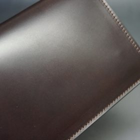 レーデルオガワ社製オイル仕上げコードバンのバーガンディ色の長財布(シルバー色)-2-5