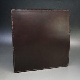 レーデルオガワ社製オイル仕上げコードバンのバーガンディ色の長財布(シルバー色)-2-7