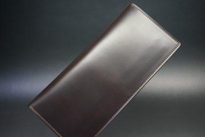 レーデルオガワ社製オイル仕上げコードバンのバーガンディ色の長財布(小銭入れなしタイプ)-1-1