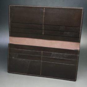 レーデルオガワ社製オイル仕上げコードバンのバーガンディ色の長財布(小銭入れなしタイプ)-1-6