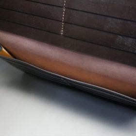 レーデルオガワ社製オイル仕上げコードバンのバーガンディ色の長財布(小銭入れなしタイプ)-1-7