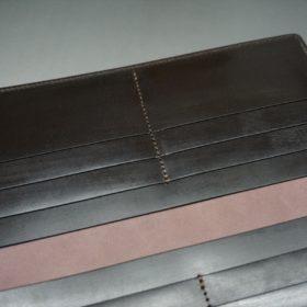 レーデルオガワ社製オイル仕上げコードバンのバーガンディ色の長財布(小銭入れなしタイプ)-1-8