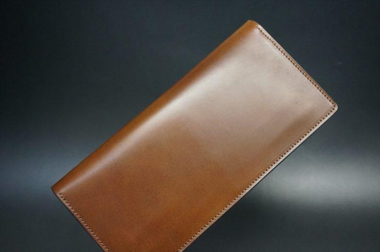レーデルオガワ社製オイル仕上げコードバンの長財布(ゴールド色)-1-1