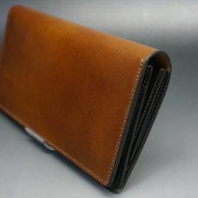 レーデルオガワ社製オイル仕上げコードバンの長財布(ゴールド色)-1-3
