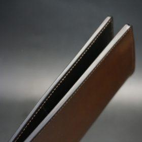 レーデルオガワ社製オイル仕上げコードバンの長財布(ゴールド色)-1-4
