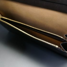 レーデルオガワ社製オイル仕上げコードバンの長財布(ゴールド色)-1-9