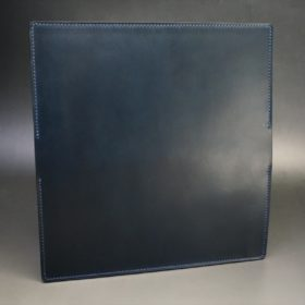 レーデルオガワ社製オイル仕上げコードバンのネイビー色の長財布(シルバー)-1-5