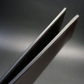 ロカド社製オイルコードバンのダークバーガンディ色のスタンダード長財布(ゴールド色)-1-5
