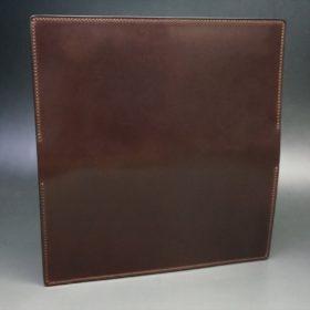 ロカド社製オイルコードバンのダークバーガンディ色のスタンダード長財布(ゴールド色)-1-6