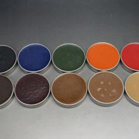顔料入り蜜蝋ワックスのカラーサンプル