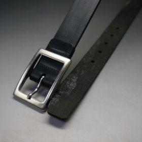 クレイトン社製ブライドルレザーのブラック色のベルト(30mm/cs/sサイズ)-1-2