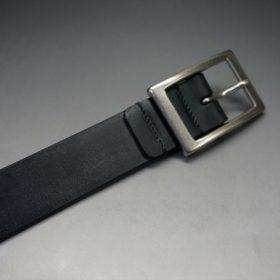 クレイトン社製ブライドルレザーのブラック色のベルト(30mm/cs/sサイズ)-1-4