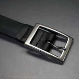 クレイトン社製ブライドルレザーのブラック色のベルト(30mm/cs/sサイズ)-1-5