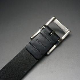 クレイトン社製ブライドルレザーのブラック色のベルト(30mm/cs/sサイズ)-1-6