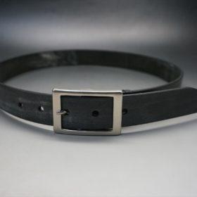 クレイトン社製ブライドルレザーのブラック色のベルト(30mm/cs/sサイズ)-1-9