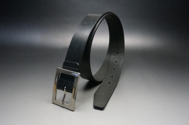 クレイトン社製ブライドルレザーのブラック色のベルト(35mm/cs/lサイズ)-1-1