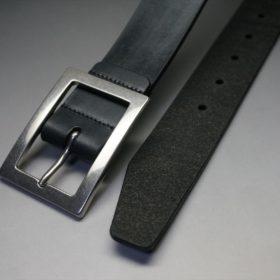 クレイトン社製ブライドルレザーのブラック色のベルト(35mm/cs/lサイズ)-1-2