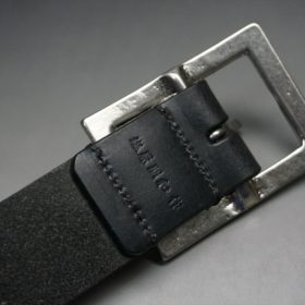 クレイトン社製ブライドルレザーのブラック色のベルト(35mm/cs/lサイズ)-1-7