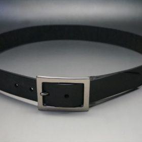 クレイトン社製ブライドルレザーのブラック色のベルト(35mm/cs/mサイズ)-1-10