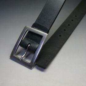 クレイトン社製ブライドルレザーのブラック色のベルト(35mm/cs/mサイズ)-1-2