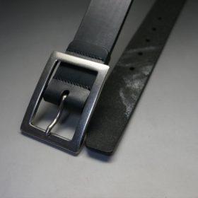 クレイトン社製ブライドルレザーのブラック色のベルト(35mm/cs/sサイズ)-1-2