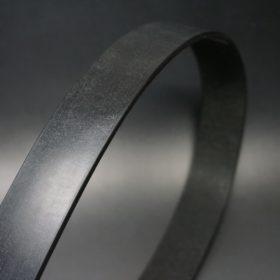 クレイトン社製ブライドルレザーのブラック色のベルト(35mm/cs/sサイズ)-1-3