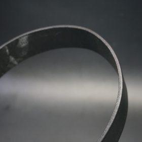 クレイトン社製ブライドルレザーのブラック色のベルト(35mm/cs/sサイズ)-1-4