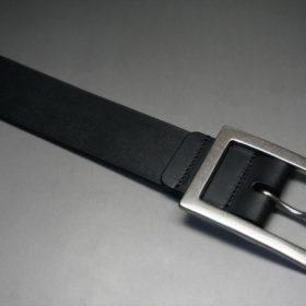 クレイトン社製ブライドルレザーのブラック色のベルト(35mm/cs/sサイズ)-1-5