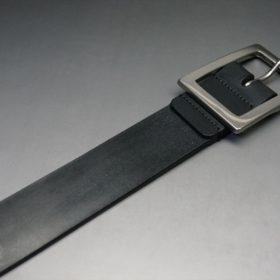 クレイトン社製ブライドルレザーのブラック色のベルト(35mm/cs/sサイズ)-1-6
