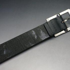 クレイトン社製ブライドルレザーのブラック色のベルト(35mm/cs/sサイズ)-1-7