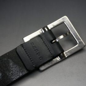 クレイトン社製ブライドルレザーのブラック色のベルト(35mm/cs/sサイズ)-1-8