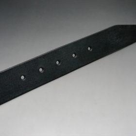 クレイトン社製ブライドルレザーのブラック色のベルト(35mm/cs/sサイズ)-1-9