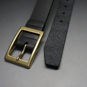 クレイトン社製ブライドルレザーのダークブラウン色のベルト(30mm/cg/mサイズ)-1-2
