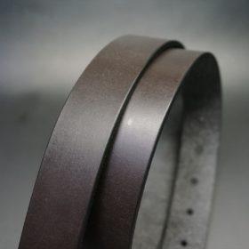 クレイトン社製ブライドルレザーのダークブラウン色のベルト(30mm/cg/mサイズ)-1-3