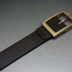 クレイトン社製ブライドルレザーのダークブラウン色のベルト(30mm/cg/mサイズ)-1-6
