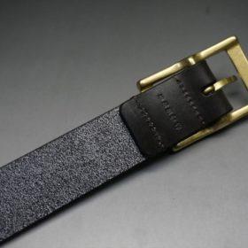 クレイトン社製ブライドルレザーのダークブラウン色のベルト(30mm/cg/mサイズ)-1-7